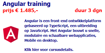 Advertentie Angular